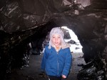 Boy in a tunnel.