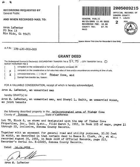 Grant Deed Form General Warranty Deed With Assumption General
